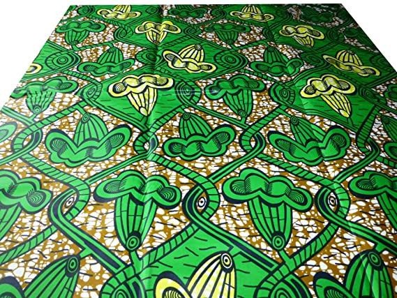 3c1a07f106 ... Wax Print Cotton Bold Colour Fabric For Dresses &Craft Making/Sewing  Fabrics/ Kitenge/Pagnes/Chitenge Sold By the Yard: Amazon.co.uk: Kitchen &  Home