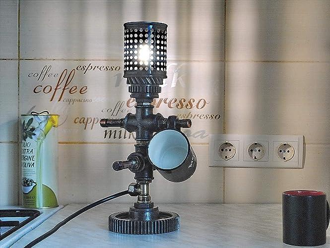 Amazon Com Steam Punk Lamp Desk Accessories Steel Pipe Desk