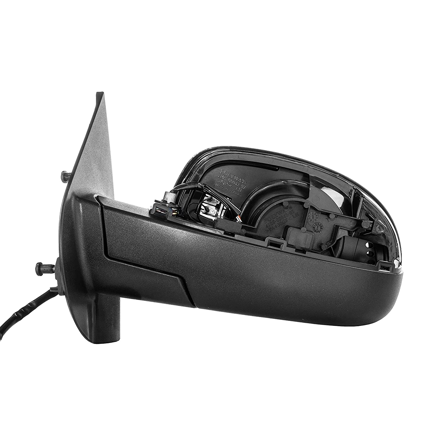 Dependable Direct Left Side Heated Folding Power Operated Mirror for 07-14 Chevy Suburban GM1320336 Parts Link #