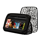 """PUNCHCASE By Leslie Hsu Ace Zip Around Standing Case, """"Color Me"""" Graffiti - Made for Kindle Fire (will not fit HD or HDX models)"""