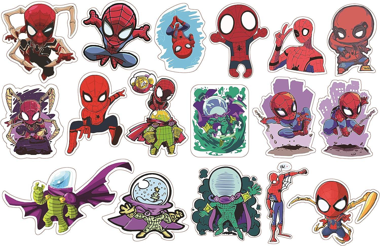 H2 Studio Spiderman Stickers, Spiderman Birthday Party Supplies, Cute Stickers for Laptop, Fridge, Water Bottle, Skateboard Stickers