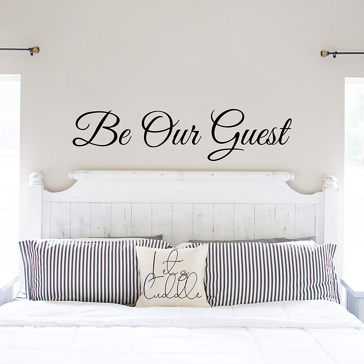 My Vinyl Story - Be Our Guest - Wall Decals for Door Family Decal Quote Word Sayings Sticker Sign Family Decor Removable Vinyl for Office Guest Room Home 36x9 Inches