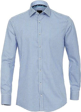 Venti 182911300-Camisa casual Hombre Azul (Blau 100) XXX ...