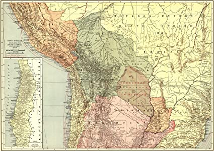 Historic Map | 1921 South America- Central Part | Rand McNally and Company