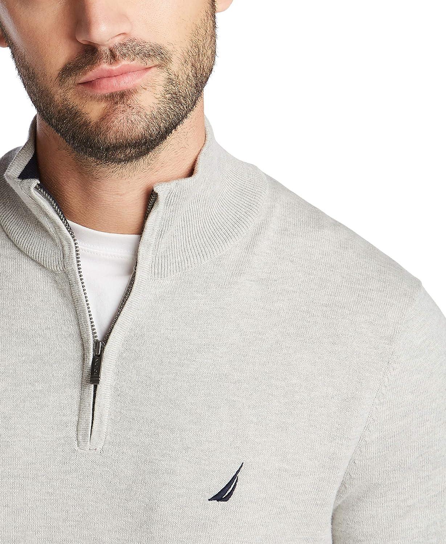 Nautica Mens Navtech Quarter-Zip Sweater
