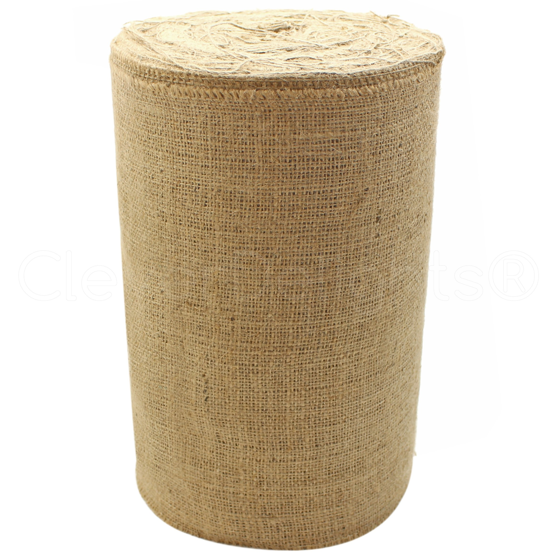 CleverDelights 12'' Natural Burlap - Industrial Grade - 50 Yard Roll - Tight-Weave Jute Burlap Fabric by CleverDelights (Image #1)