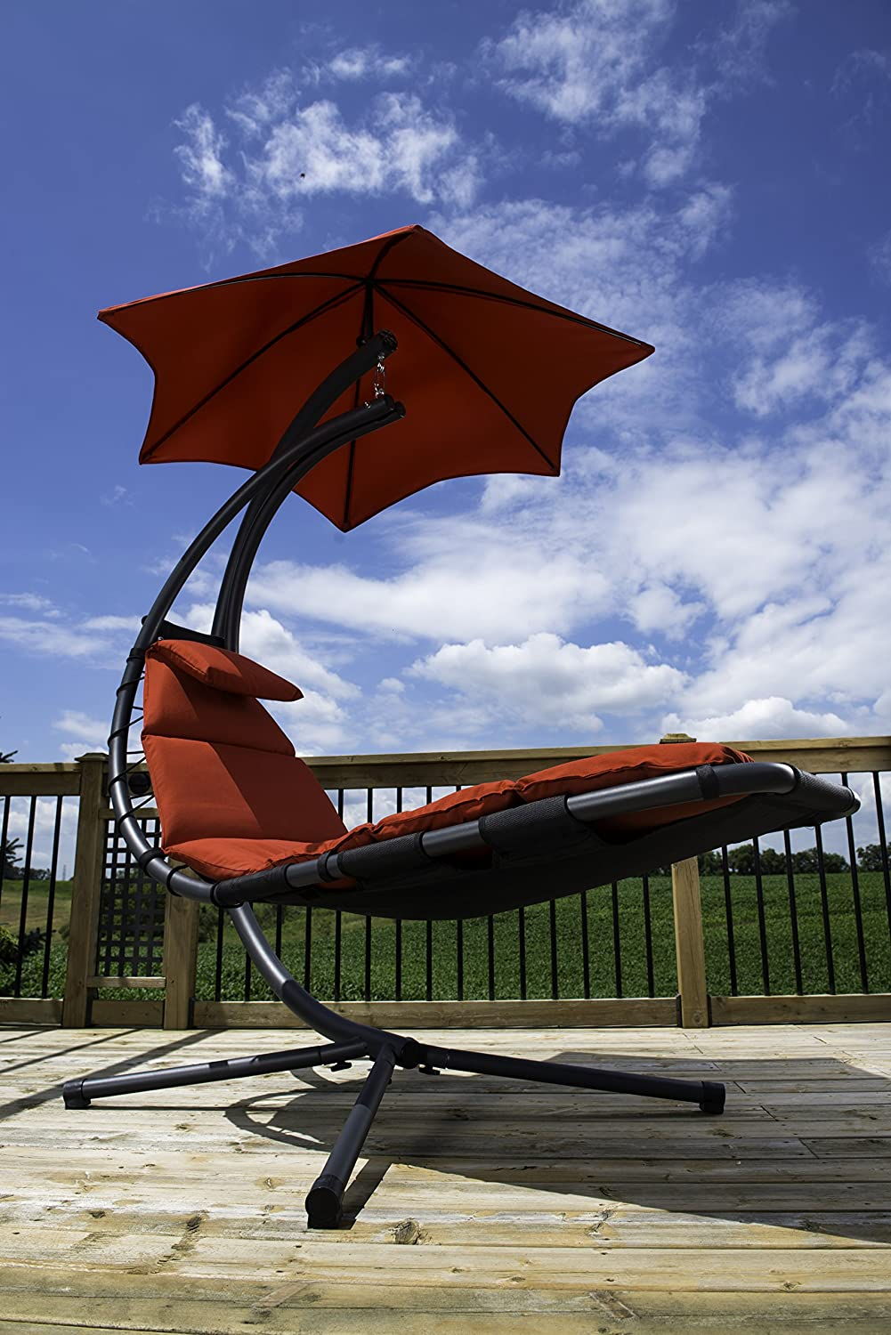 Vivere Original Dream Helicopter Chair - Cherry Red