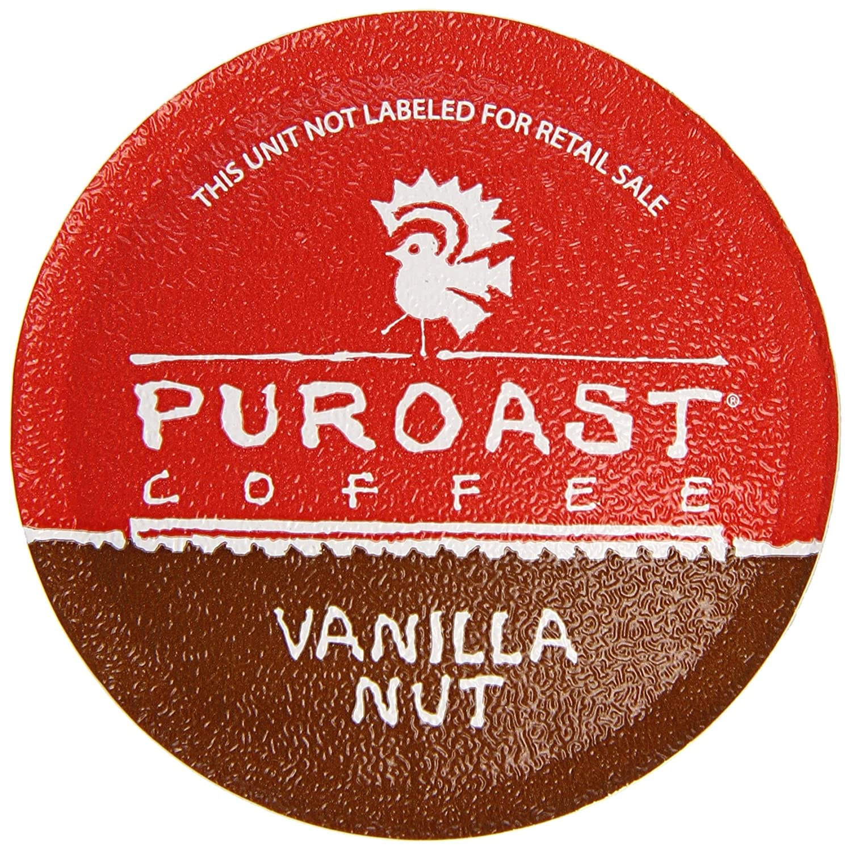 Puroast Low Acid Coffee Single-Serve Keurig K-Cup Pods, Vanilla Nut Flavor, High Antioxidant, Compatible with Keurig 2.0 Coffee Makers (12 Count)