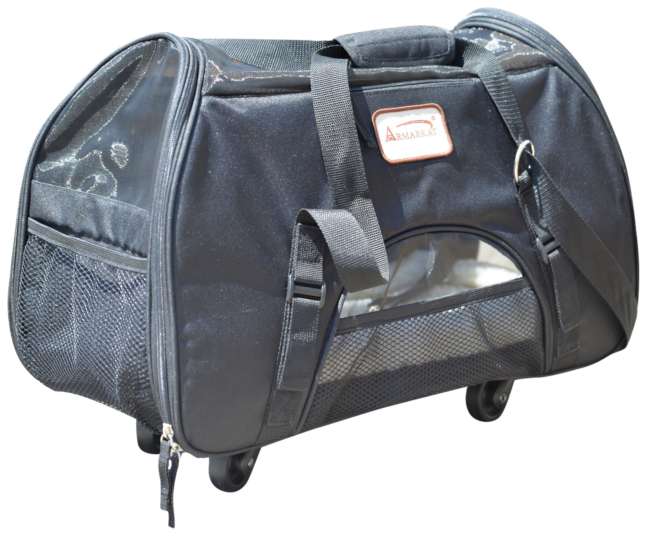 Armarkat PC101B Roll Away Pet Carrier