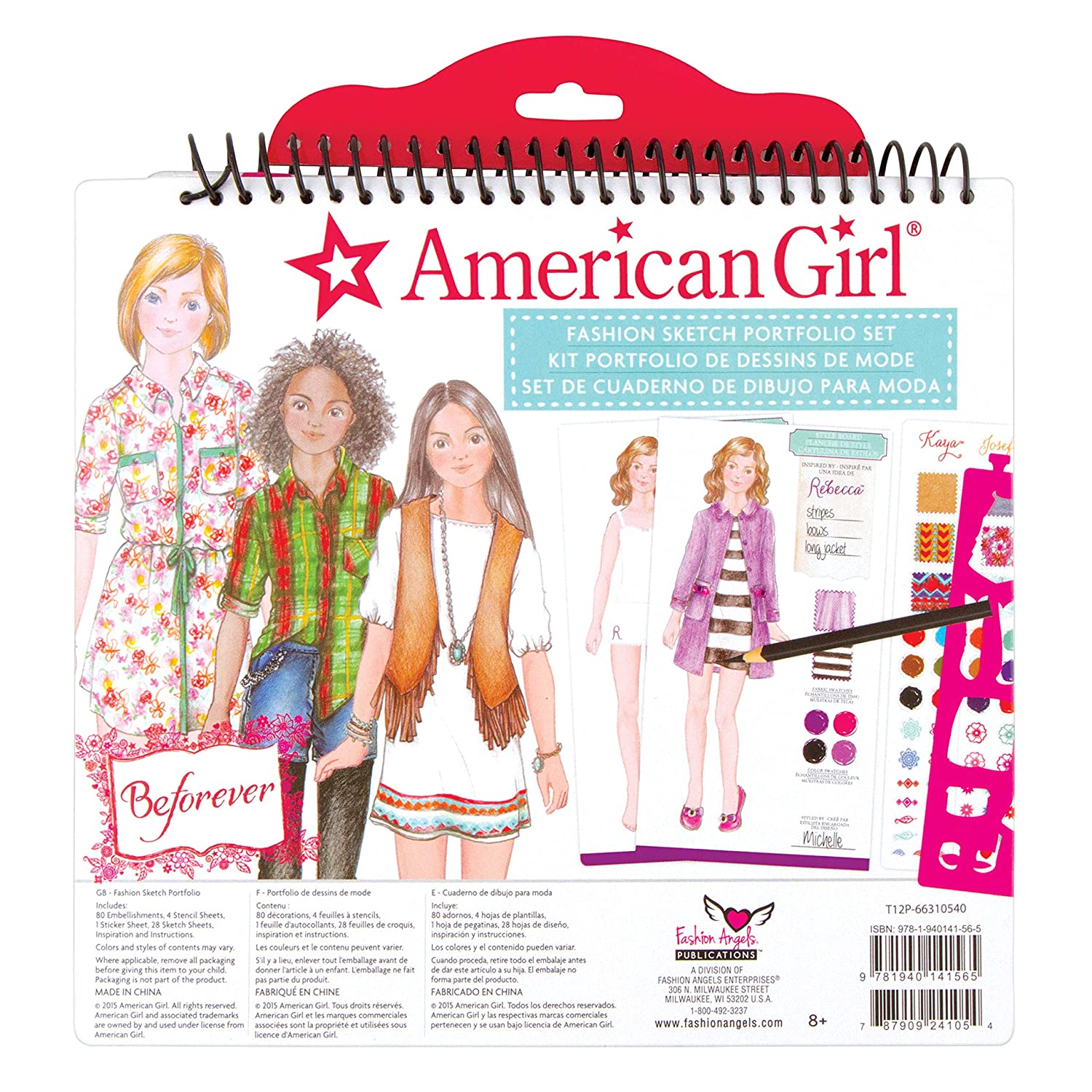 Buy American Girl Beforever Fashion Sketch Portfolio Online At Low Prices In India Amazon In