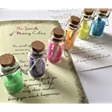 Smiling Wisdom - Sands of Many Colors Wisdom Wishes Gift Set - 6 Bottles with Colored Sand & Message - Greeting Card - Heartfelt Edition - Son Daughter from Mom or Dad, Graduate, Teenager