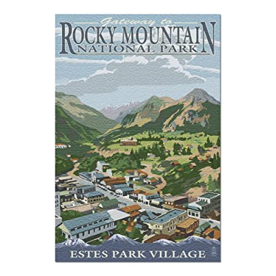 Estes Park Village, Colorado - Town View (Premium 1000 Piece Jigsaw Puzzle for Adults, 20x30, Made in USA!): Toys & Games