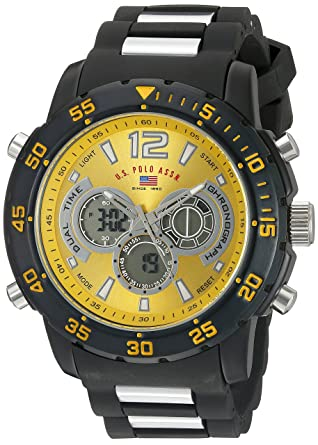 a355e6d8402 Amazon.com  U.S. Polo Assn. Sport Men s US9546 Two-Tone Sport Watch ...
