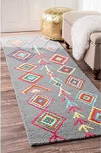 Amazon Com Nuloom Belini Hand Tufted Wool Area Rug 4 Feet X 6 Feet Grey Furniture Decor