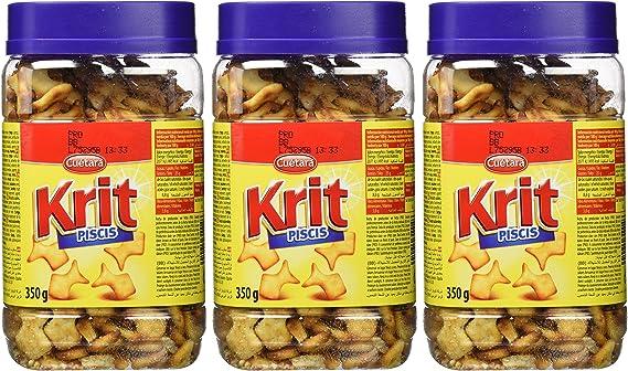 Cuétara - Krit Piscis - Galletas saladas - 350 g - [Pack de 3]