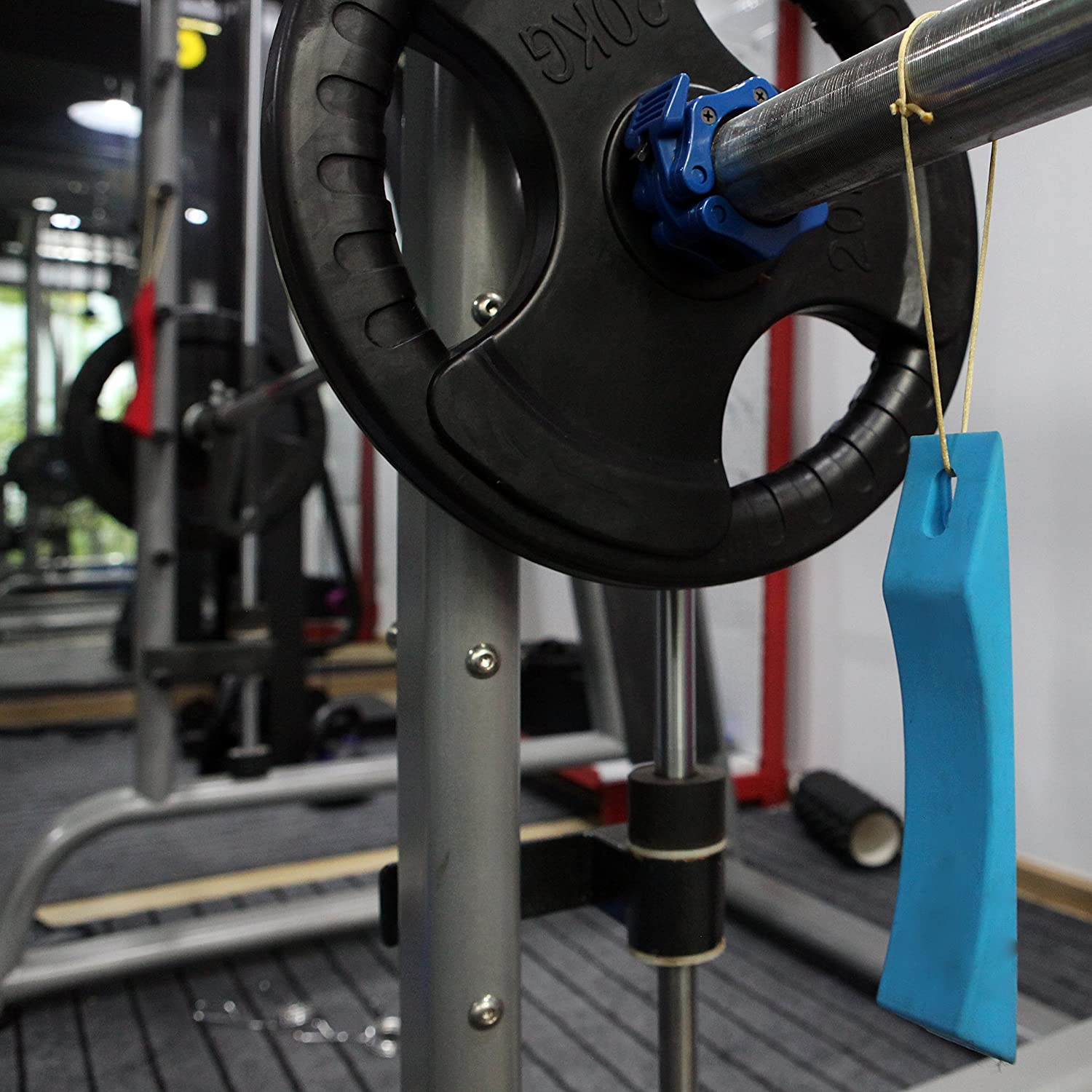 Multiple Colors Safely Load and Unload Barbell and Plates Free Carry Bag Included AbraFit Deadlift Barbell Jack Alternative Wedge