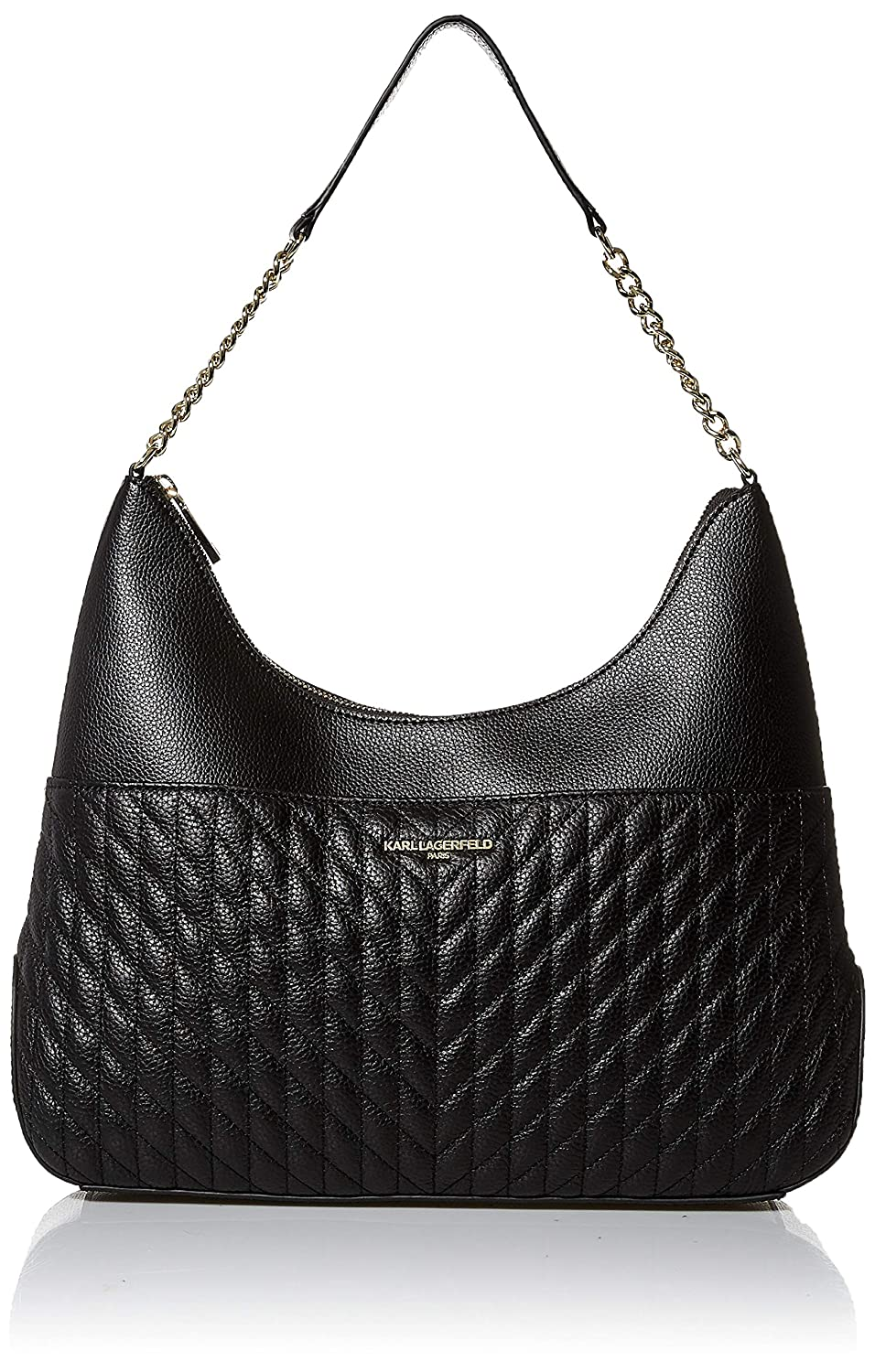 Black gold Karl Lagerfeld Paris Janelle Hobo