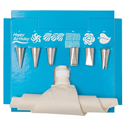 Amazon.com: Ateco 332 8-Piece Cake Decorating Set: Decorative Cake ...