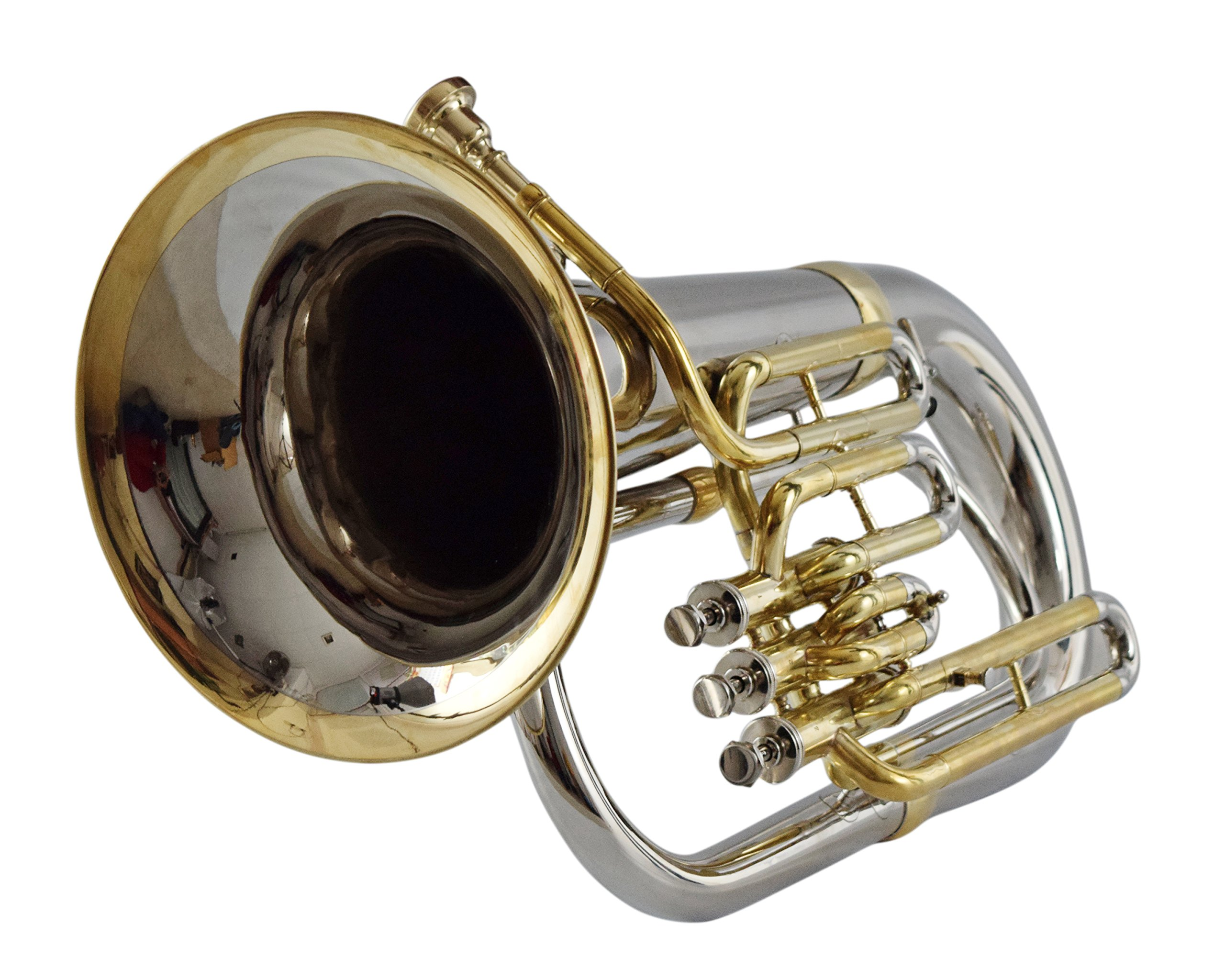 NASIR ALI AWESOME EUPHONIUM Bb PITCH @10% DISC. NICKEL+BRASS WITH FREE Bag+MP+SHIP