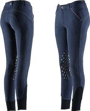 EQUI-THÈME Pantalon Equitation Femme - Equit m Thermic - Marine, Contrastes  Blanc d0c465d3276