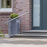 Relaxdays, Silver Stainless Steel Handrail for
