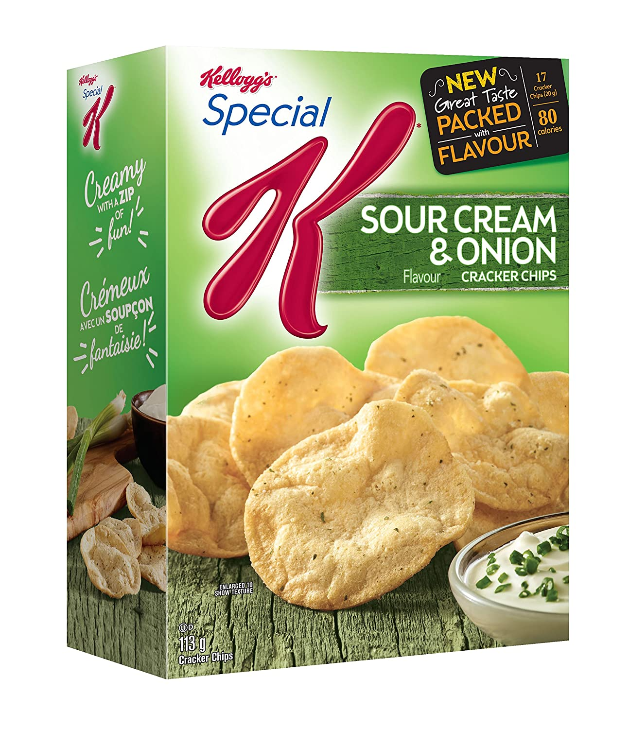 Kellogg's Special K Cracker Chips Sour Cream and Onion 113 Gram Kellogg Company CA