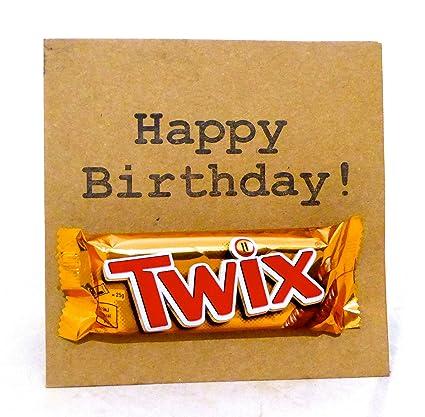 Twix Chocolate tarjeta del feliz cumpleaños: Amazon.es ...