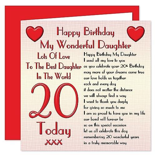 20th Birthday Card Amazon