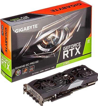 Gigabyte GV-N2060GAMINGOC Pro-6GD - Tarjeta gráfica GeForce RTX ...
