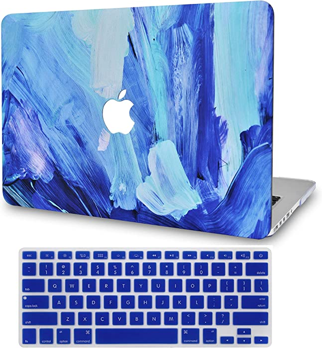 LuvCase2in1LaptopCaseforMacBookPro 15 Touch Bar (2019/2018/2017/2016) A1990/A1707RubberizedPlasticHardShellCover &KeyboardCover(Oil Paint 5)