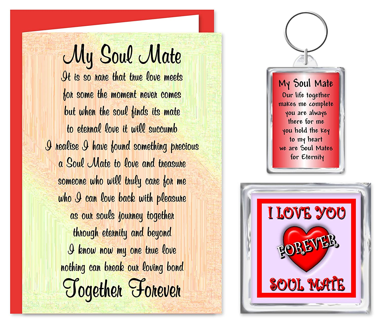 Soul Mate Gift Set Card Keyring Fridge Magnet For Someone