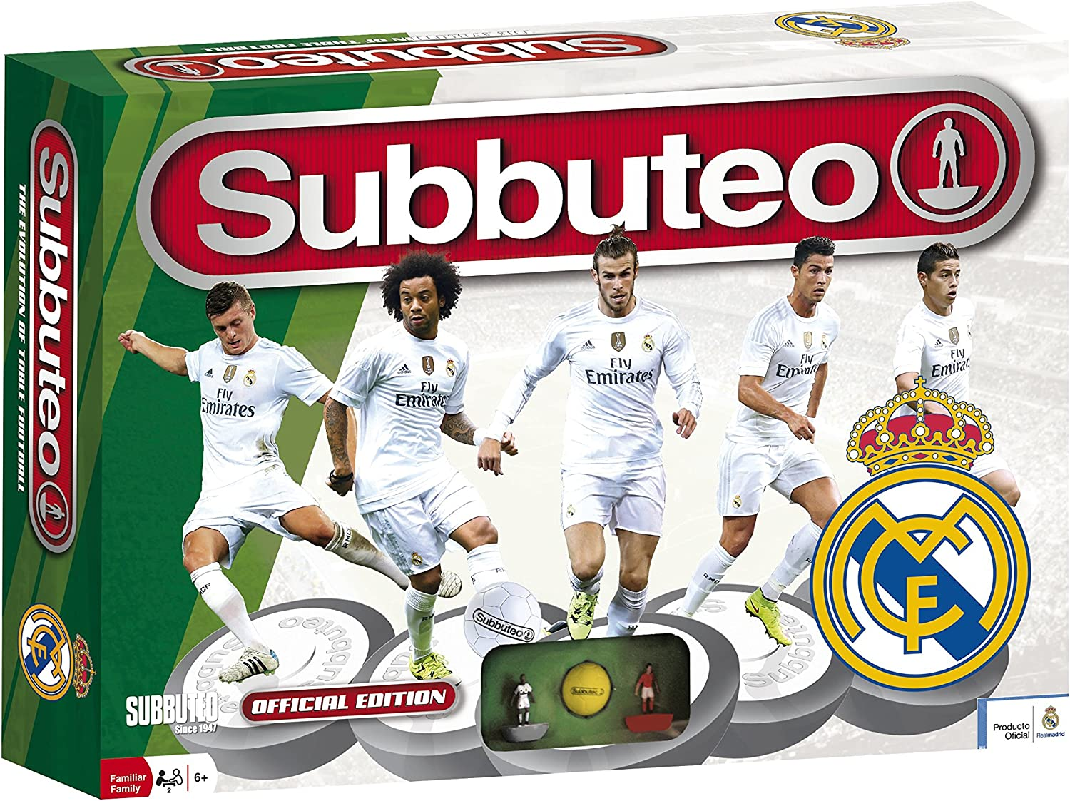Real Madrid - Playset Subbuteo, New Edition, Color Blanco (Eleven ...