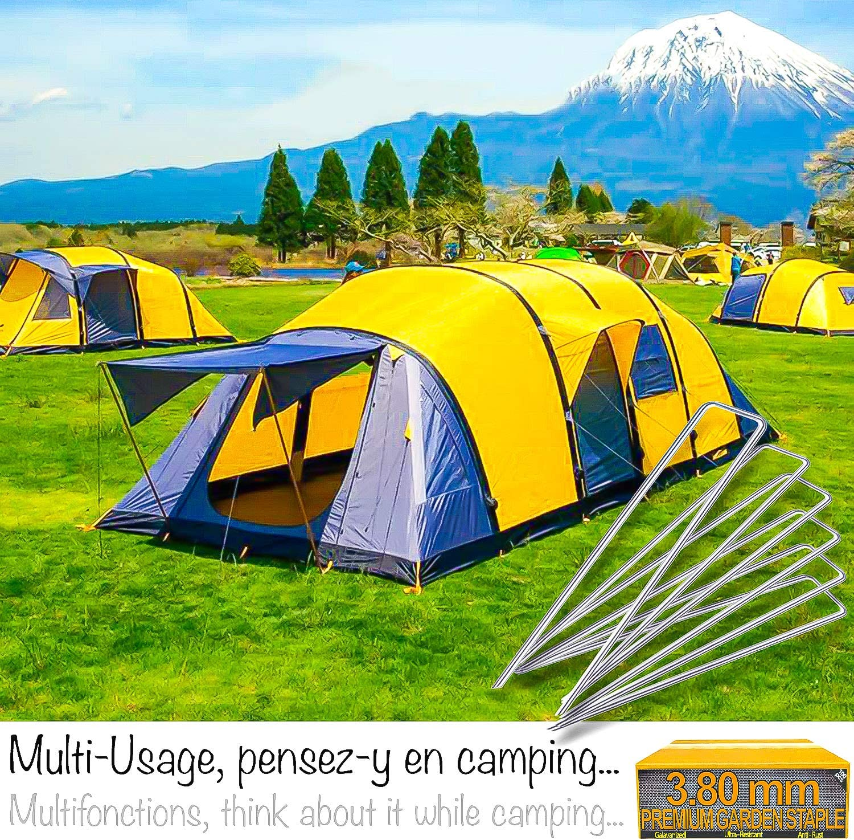 100 Crochet Toile Sardines Tente Camping ➜ Piquet de Fixation Jardin