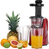Amazon.com: Hurom HU-100 Masticating Slow Juicer, White: Electric Masticating Juicers: Kitchen ...