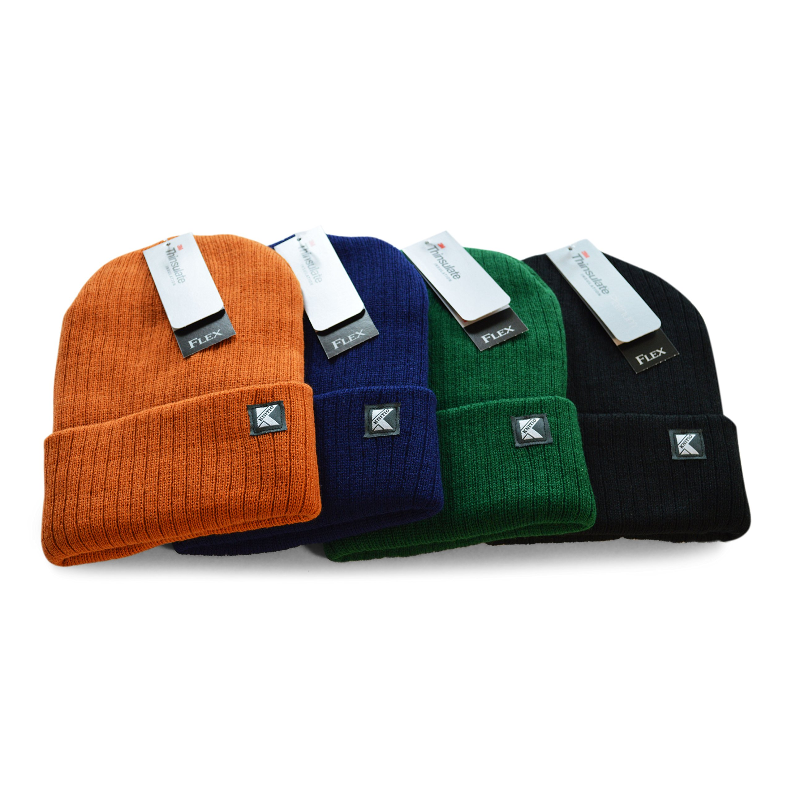 Knitio Men's Cuffed Winter Beanie With Thinsulate | Warm, Comfortable, Durable Winter Hats For Men | Navy by Knitio (Image #4)