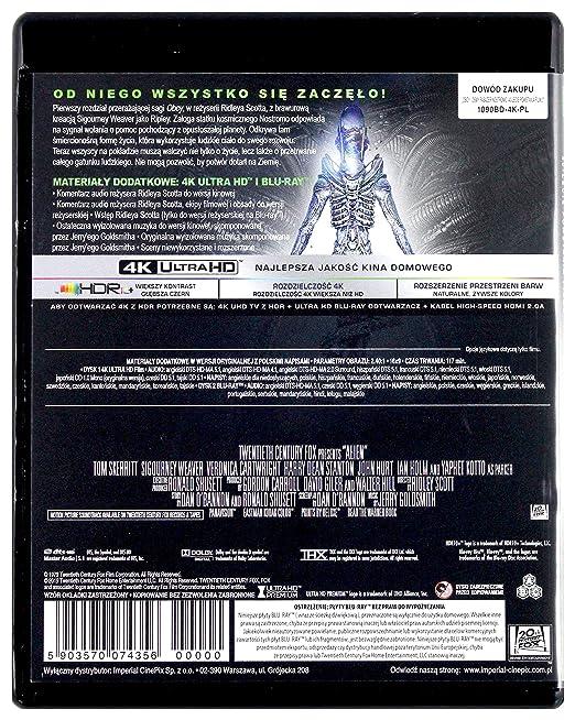 Alien 4K UHD Blu-Ray Region Free Audio español. Subtítulos en español: Amazon.es: Tom Skerritt, Sigourney Weaver, Veronica Cartwright, Harry Dean Stanton, John Hurt, Ian Holm, Yaphet Kotto, Bolaji Badejo, Helen Horton, Eddie