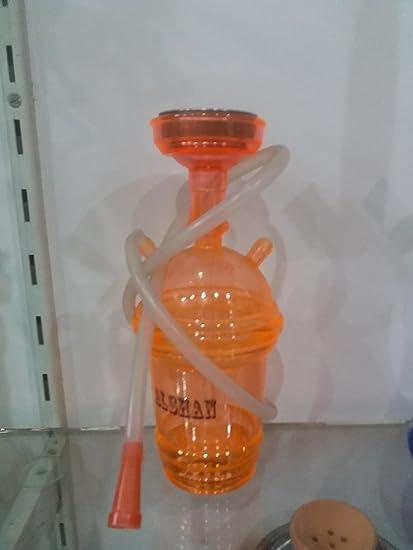 AN Handicrafts Plastic New Designing Hookah 11 Inch Color Orange