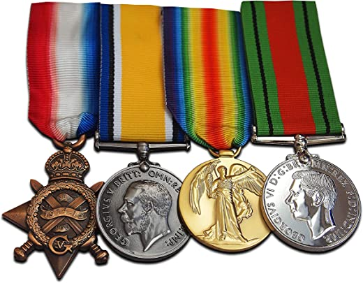 WW1 Medals 1914-15 Star British War Victory & Defence medal Royal Navy Army Armed Forces Gift