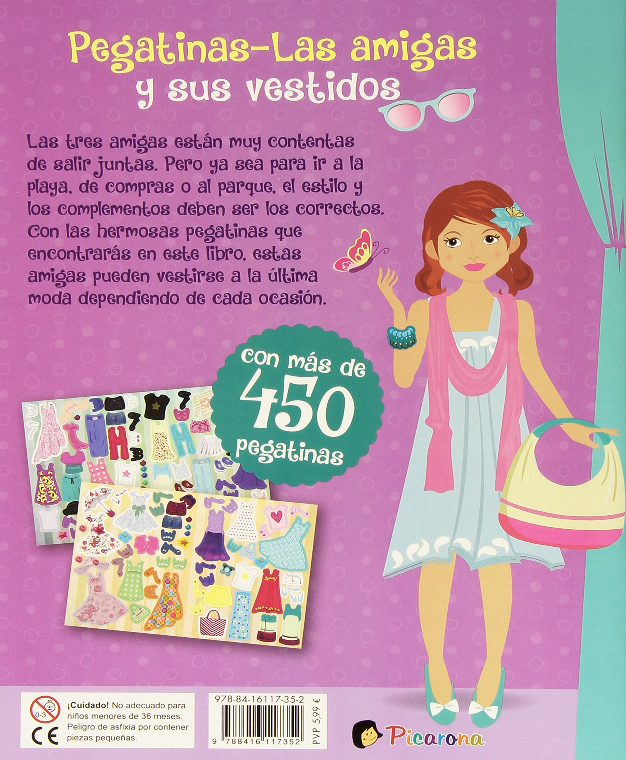 Las amigas y sus vestidos (stickers) (Spanish Edition): Various Authors: 9788416117352: Amazon.com: Books