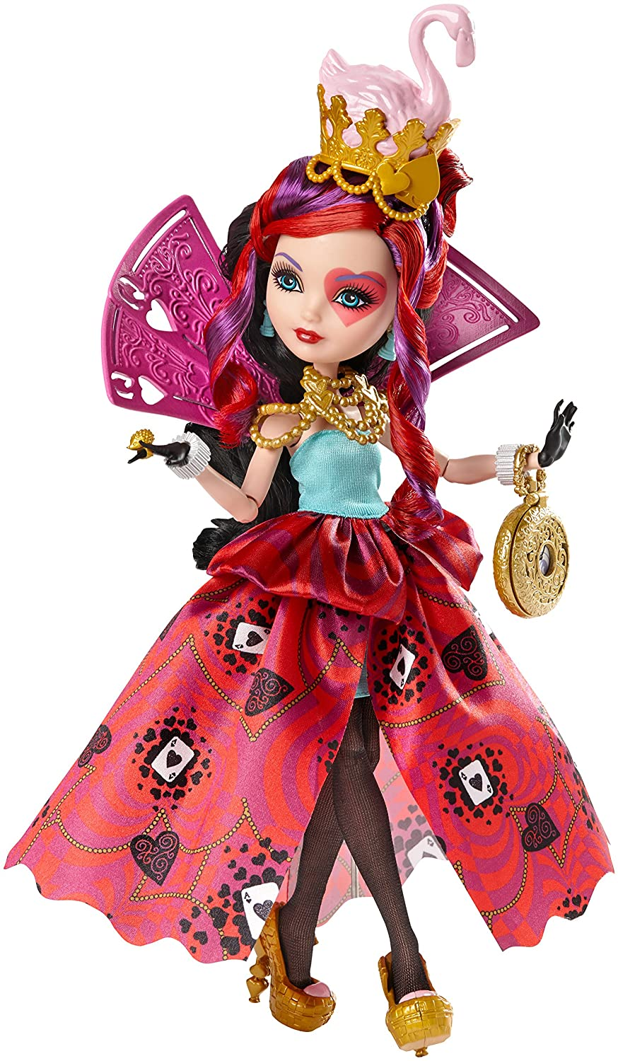 Ever After High Way Too Wonderland Lizzie Hearts Doll Discontinued by manufacturer CJF43
