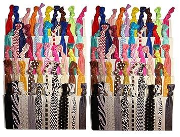 Amazon.com   Kenz Laurenz No Crease Elastic Ribbon Ponytail Holders Hair  Bands fbf84d5c2ce