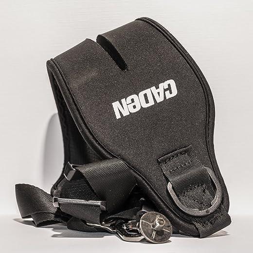 حزام كتف عريض من CowboyStudio Caden لكاميرا Canon Nikon Sony Pentax Olympus Panasonic باللون الأسود