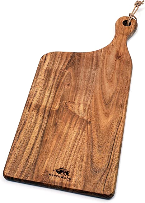 6  X 23 1//2   old style wood  bread cheese cutting board hand made