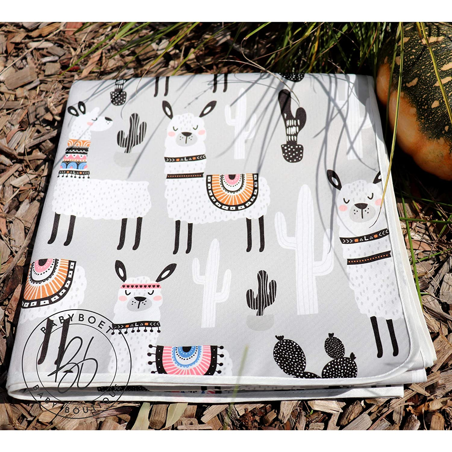 """BABYBOET Splat Mat for Baby Under High Chair Floor Mat Protects Wood Waterproof Triple Layer Baby Mat with Anti-Skid Backing Deters Bunching and Sliding Vinyl and Carpet from Spills 51/"""" x 51/"""""""