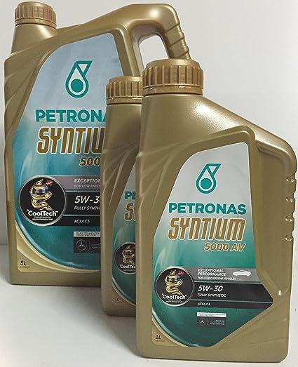 Aceite de Motor PETRONAS SYNTIUM 5000 AV 5W-30 7 lts (5x1 lt +