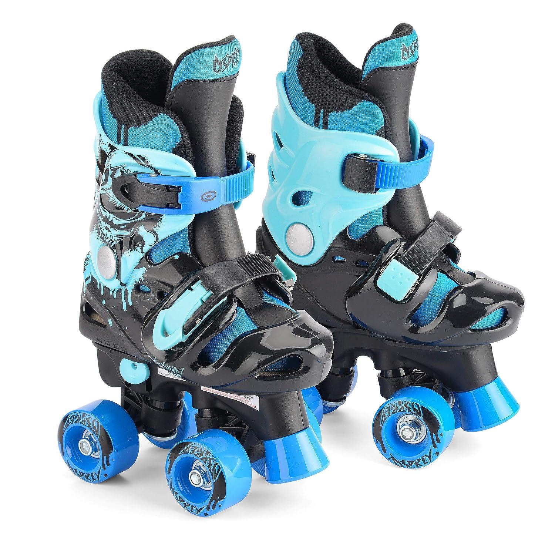 4c4cce21a4797 Osprey Children s Adjustable Roller Skates - Kids 4 Wheel Quad Skates   Amazon.co.uk  Sports   Outdoors