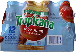 product image for Tropicana 100 Percent Apple Juice, 12 Count