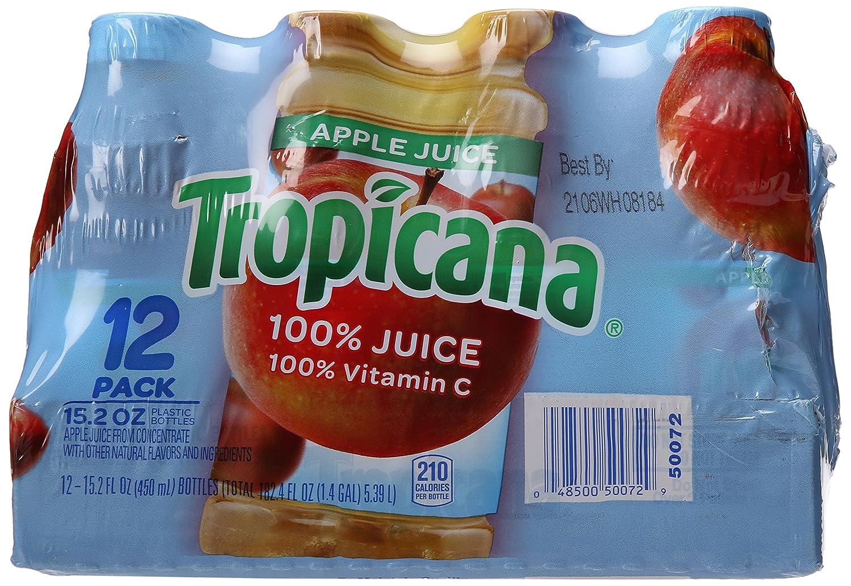 Tropicana 100 Percent Apple Juice, 12 Count