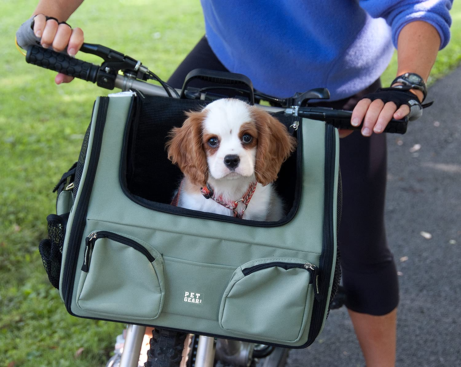 Pet gear pet bike basket 3 in 1 car seat carrier bike basket for cats and dogs up to 12 pounds tan amazon ca pet supplies