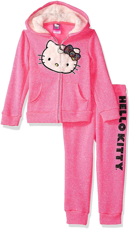 Hello Kitty Girls Girls 2 Piece Zip-up Hoodie and Pant Active Set Hooded Sweatshirt